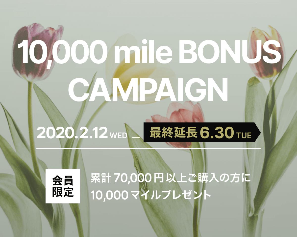10,000マイルボーナスキャンペーン